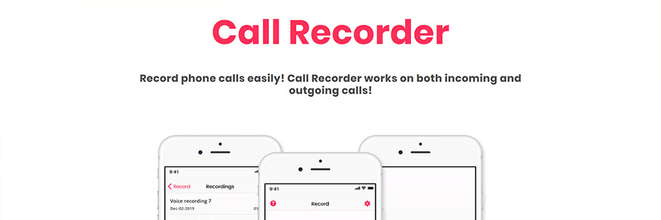 Call Recorder Web Presentation Preview
